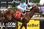 Agave Kiss & Ramon Dominguez win the $100,000 Miss Preakness Stakes for 3-year old fillies at 6 furlongs.  Trainer Rudy Rodriguez.  Owner Flying Zee Stables.