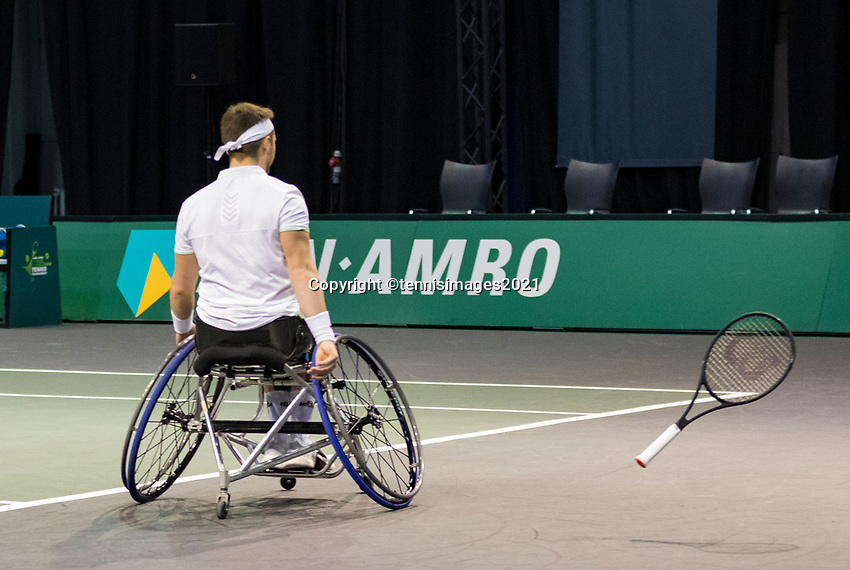 Rotterdam, The Netherlands, 6 march  2021, ABNAMRO World Tennis Tournament, Ahoy,  Semi final wheelchair: Alfie Hewett (GBR). Photo: www.tennisimages.com