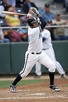 July 7 2009: Jose Rivero of the Everett AquaSox bats against the Yakima Bears at Everett Memorial Stadium in Everett,WA.  Photo by Larry Goren/Four Seam Images