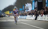 Ronde van Vlaanderen 2013..Jürgen Roelandts (BEL) crossing the finishline 3rd