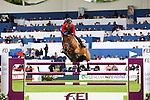 Equestrian - Showjumping - Meydan FEI Nations Cup.Jane Richard (SUI) aboard Upanisad Di San Patrignano in action during the Meydan FEI Nations Cup at the Royal Dublin Society (RDS) in Dublin.