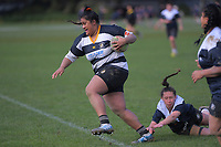 Action from the Wellington women's rugby Rebecca Liua'ana Trophy match between Petone and Oriental-Rongotai at Petone Rec in Petone, New Zealand on Saturday, 8 August 2020. Photo: Dave Lintott / lintottphoto.co.nz