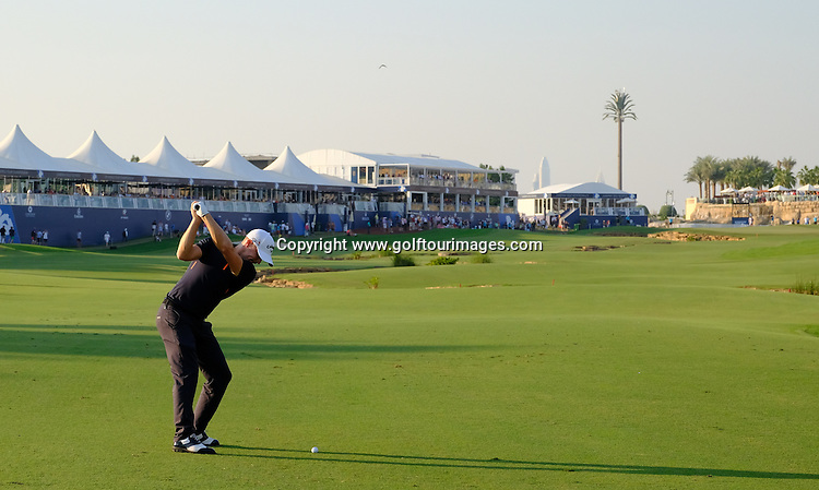 Alex NOREN (SWE) during round one of the 2016 DP World Tour Championships played over the Earth Course at Jumeirah Golf Estates, Dubai, UAE: Picture Stuart Adams, www.golftourimages.com: 11/17/16