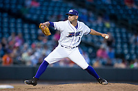 Winston-Salem Dash relief pitcher Kyle Kubat (3) in action against the Buies Creek Astros at BB&T Ballpark on June 23, 2017 in Winston-Salem, North Carolina.  The Astros defeated the Dash 3-0.  (Brian Westerholt/Four Seam Images)