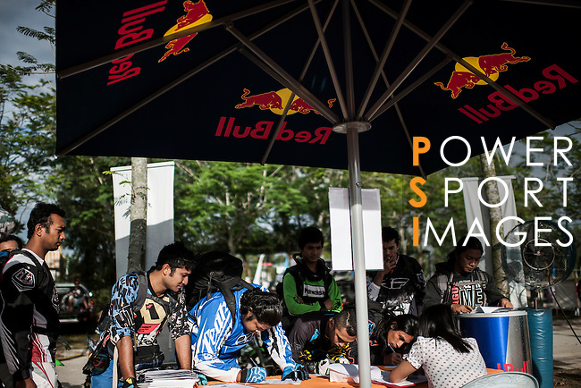 """Red Bull KTM team rider Mohammed Balooshi of UAE during the Red Bull """"Under my Wing"""" Malaysia 2012, on July 07, 2012. Photo by Victor Fraile / The Power of Sport Images"""