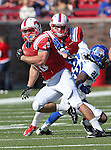 Southern Methodist Mustangs running back ZACH LINE (48) in action during the game between the Memphis Tigers and the Southern Methodist Mustangs at the Gerald J. Ford Stadium in Dallas, Texas. SMU defeats Memphis 44 to 13.