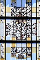 France, Haute-Vienne (87), Limoges, gare des Bénédictins, l'intérieur et son vitrage // France, Haute Vienne, Limoges, Limoges Benedictins railway station, stained glass