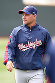 April 11, 2010:  Pitching Coach Randy Tomlin of the Harrisburg Senators during a game at Blair County Ballpark in Altoona, PA.  Harrisburg is the Double-A affiliate of the Washington Nationals.  Photo By Mike Janes/Four Seam Images
