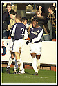 25/1/03       Copyright Pic : James Stewart                  .File Name : stewart-falkirk v hearts 16.COLLIN SAMUEL IS CONGRATULATED BY OWEN COYLE AFTER SCORING FALKIRK'S FIRST GOAL...........James Stewart Photo Agency, 19 Carronlea Drive, Falkirk. FK2 8DN      Vat Reg No. 607 6932 25.Office : +44 (0)1324 570906     .Mobile : + 44 (0)7721 416997.Fax     :  +44 (0)1324 570906.E-mail : jim@jspa.co.uk.If you require further information then contact Jim Stewart on any of the numbers above.........