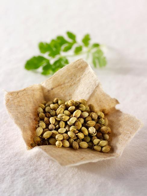 Corinader seeds & coriander leaves
