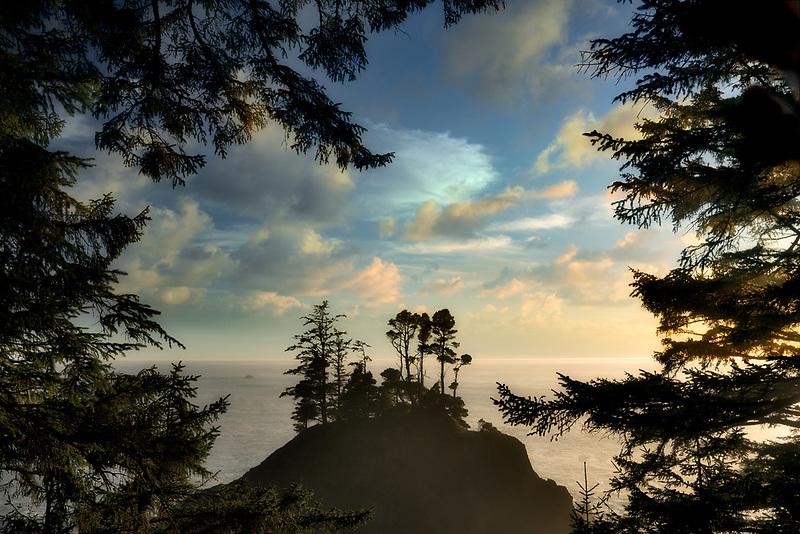 Island and coastline. Samuel H. Boardman State Park, Oregon
