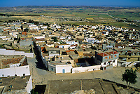 Tunisia, Le Kef.  View from the citadel above the town.