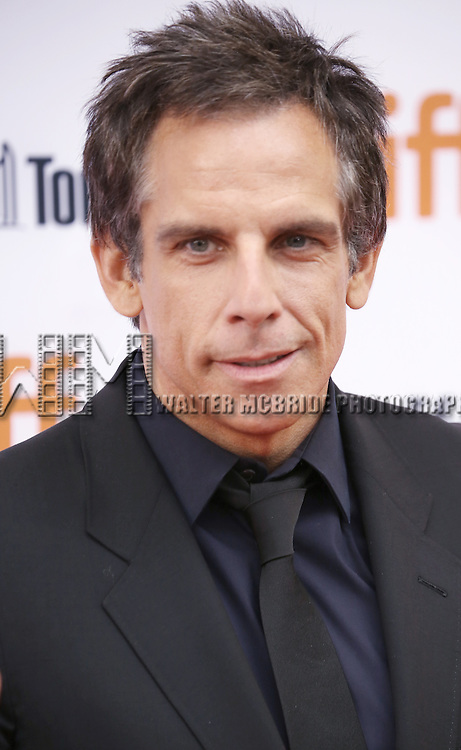 Ben Stiller attending the 'While We're Young' red carpet arrivals during the 2014 Toronto International Film Festival at the Princess of Wales Theatre on September 6, 2014 in Toronto, Canada.