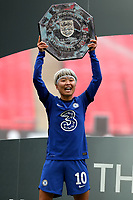 29th August 2020; Wembley Stadium, London, England; Community Shield Womens Final, Chelsea versus Manchester City; Ji So-yun of Chelsea Women celebrates with the Community Shield