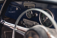 BNPS.co.uk (01202 558833)<br /> Pic: SilverstoneAuctions/BNPS<br /> <br /> Pictured: The dashboard.<br /> <br /> A classic Porsche has emerged for sale after it was discovered in storage exactly as it was left over four decades ago.<br /> <br /> The 1964 3560C coup with its original blue paintwork is remarkably rare as most of its kind were scrapped after they were superseded by the more popular 911 model.<br /> <br /> Found by the seller in a barn where it languished since it was last driven in 1977, the car is a time capsule full of historic items left untouched for decades.