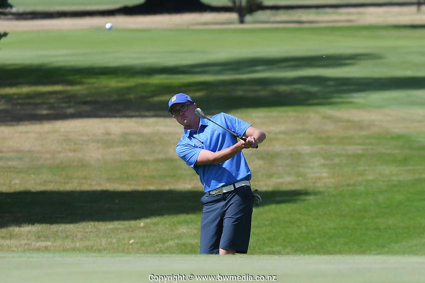 Joshua Morris, Bay of Plenty, 2019 New Zealand Men's Interprovincials, Hastings Golf Club, Hawke's Bay, New Zealand, Tuesday 26th November, 2019. Photo: Kerry Marshall/www.bwmedia.co.nz