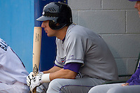 Brent Morel #21 of the Winston-Salem Dash waits for his turn to bat at Pfitzner Stadium June 10, 2009 in Woodbridge, Virginia. (Photo by Brian Westerholt / Four Seam Images)