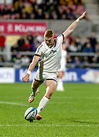Friday 8th October 2021<br /> <br /> Nathan Doak converts during the URC Round 3 clash between Ulster Rugby and Benetton Rugby at Kingspan Stadium, Ravenhill Park, Belfast, Northern Ireland. Photo by John Dickson/Dicksondigital