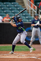 Vermont Lake Monsters Jordan Diaz (12) at bat during a NY-Penn League game against the Aberdeen IronBirds on August 18, 2019 at Leidos Field at Ripken Stadium in Aberdeen, Maryland.  Vermont defeated Aberdeen 6-5.  (Mike Janes/Four Seam Images)