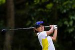 Isabella Leung of hong Kong tees off during the first round of the EFG Hong Kong Ladies Open at the Hong Kong Golf Club Old Course on May 11, 2018 in Hong Kong. Photo by Marcio Rodrigo Machado / Power Sport Images