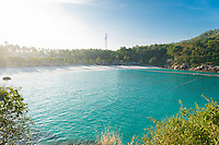 Patok bay panorama with beach and resorts in Raya island, Thailand