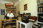 Richard Wells radio man in his Radio Museum South London England 1990s UK