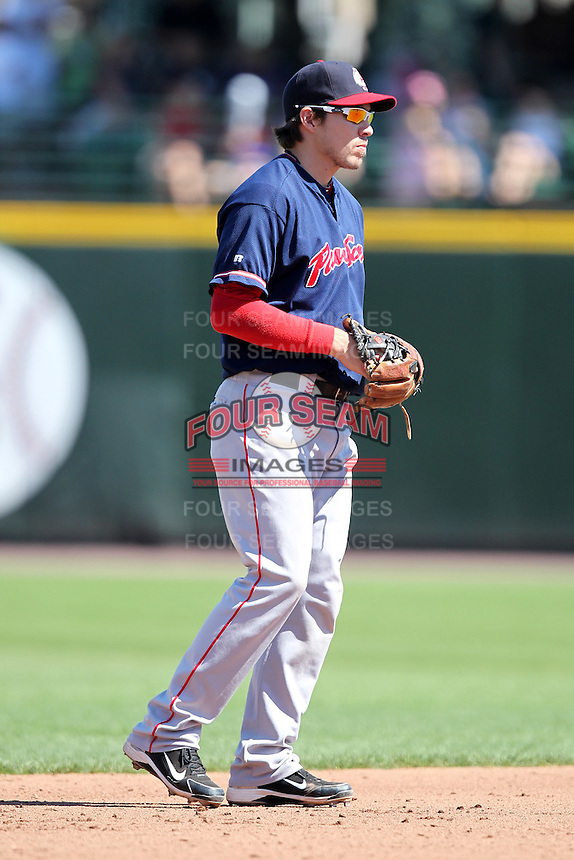 Pawtucket Red Sox shortstop Niuman Romero during a game vs. the Rochester Red Wings at Frontier Field in Rochester, New York;  August 29, 2010.   Rochester defeated Pawtucket 6-3.  Photo By Mike Janes/Four Seam Images