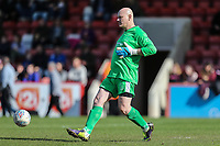 Goalkeeper Terry Alderton during the Celebrity Charity Football Match hosted by Sellebrity Soccer for the Benjamin Lewis Charity Cub at the Abbey Business Stadium, Cheltenham, England on 25 March 2018. Photo by David Horn.