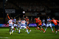 21st April 2021; Kenilworth Road, Luton, Bedfordshire, England; English Football League Championship Football, Luton Town versus Reading; George Puscas of Reading with an effort on goal.