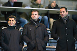 St Johnstone v Aberdeen...23.01.15   SPFL<br /> Celtic boss Ronnie Deila watches the game with John Collins and John Kennedy<br /> Picture by Graeme Hart.<br /> Copyright Perthshire Picture Agency<br /> Tel: 01738 623350  Mobile: 07990 594431