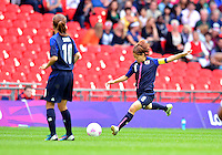 August 06, 2012..Japan's Aya Miyama #8 during Semi Final match at the Wembley Stadium on day ten in Wembley, England. Japan defeats France 2-1 to reach Women's Finals of the 2012 London Olympics.