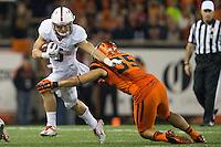 CORVALLIS, OR -- September 25, 2015: The Stanford Cardinal defeates the Oregon State Beavers 42-24 at Reser Stadium in Corvallis, Oregon.