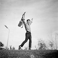 le chanteur quebecois Tony Massarelli<br /> <br /> (date inconnue, avant 1984)<br /> <br /> Photo : Agence Quebec Presse - Roland Lachance