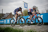 Jasper Stuyven (BEL/Trek-Segafredo) up the Paterberg<br /> <br /> 105th Ronde van Vlaanderen 2021 (MEN1.UWT)<br /> <br /> 1 day race from Antwerp to Oudenaarde (BEL/264km) <br /> <br /> ©kramon
