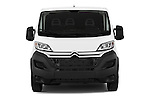 Car photography straight front view of a 2015 Citroen Jumper L1H1 Club 3 Door Cargo Van Front View