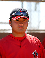 Hank Conger / Los Angeles Angels 2008 Instructional League..Photo by:  Bill Mitchell/Four Seam Images