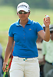 CHON BURI, THAILAND - FEBRUARY 19:  Yani Tseng of Taiwan acknowledges to the crowd on the 14th green during day three of the LPGA Thailand at Siam Country Club on February 19, 2011 in Chon Buri, Thailand.  Photo by Victor Fraile / The Power of Sport Images