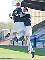 Brian Graham (right) celebrates with Allan Walker (8) after he scores Raith's first goal.