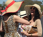 March 28, 2015 Fashion by the Fairgrounds paddock on Louisiana Derby Day. ©Mary M. Meek/ESW/CSM