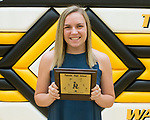 May 30, 2017- Tuscola, IL- The 2017 Tuscola Warrior Girls Track & Field award recipients. Outstanding Track Performer - Emma Henderson. Not pictured are Kaiya Clodfelder (MVP and Outstanding Field Performer),  and Calleigh Miller (Warrior Spirit). [Photo: Douglas Cottle]