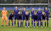 Anderlecht team photo taken before a female soccer game between FC Femina WS Woluwe and RSC Anderlecht Women on the eight match day of the 2020 - 2021 season of Belgian Women's Super League , Sunday 22nd of November 2020  in Woluwe, Belgium . PHOTO SPORTPIX.BE | SPP | SEVIL OKTEM