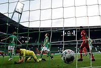 18th May 2020, WESERSTADION, Bremen, Germany; Bundesliga football, Werder Bremen versus Bayer Leverkusen; 18 May 2020, Bremen: Soccer, Bundesliga, 26th matchday, Werder Bremen - Bayer Leverkusen at wohninvest Weser Stadium. Leverkusen's Kai Havertz (not in picture) scores the 1:2 for Leverkusen