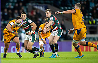 21st May 2021; Twickenham, London, England; European Rugby Challenge Cup Final, Leicester Tigers versus Montpellier; Hanro Liebenberg of Leicester Tigers breaks with the ball