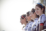 Sign on before La Fleche Wallonne Femmes 2018 running 118.5km from Huy to Huy, Belgium. 18/04/2018.<br /> Picture: ASO/Thomas Maheux | Cyclefile.<br /> <br /> All photos usage must carry mandatory copyright credit (© Cyclefile | ASO/Thomas Maheux)