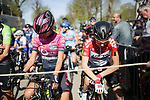 Ready to start La Fleche Wallonne Femmes 2018 running 118.5km from Huy to Huy, Belgium. 18/04/2018.<br /> Picture: ASO/Thomas Maheux | Cyclefile.<br /> <br /> All photos usage must carry mandatory copyright credit (© Cyclefile | ASO/Thomas Maheux)