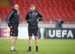 07.11.18 Rangers training at the Spartak Stadium, Moscow: Gary McAllister and Steven Gerrard