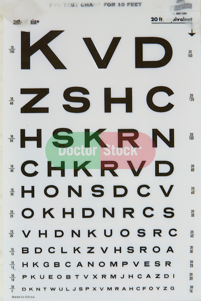 letters on eye chart