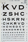 letters on eye chart
