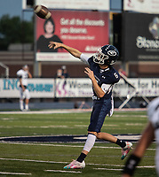 Greenwood's quarterback LD Richmond throws a pass in the first half of Friday's game against Springdale Har-Ber.