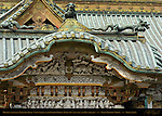 Karamon Arched Gable Gate Sculptures Seven Sages of the Bamboo Grove Koma-inu Lion Dog Ryu Dragon Honden Main Hall Nikko Toshogu Shrine Nikko Japan